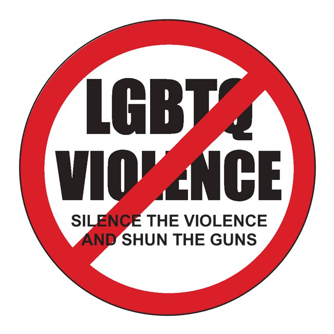 Anti-violence against LGBTQ sticker